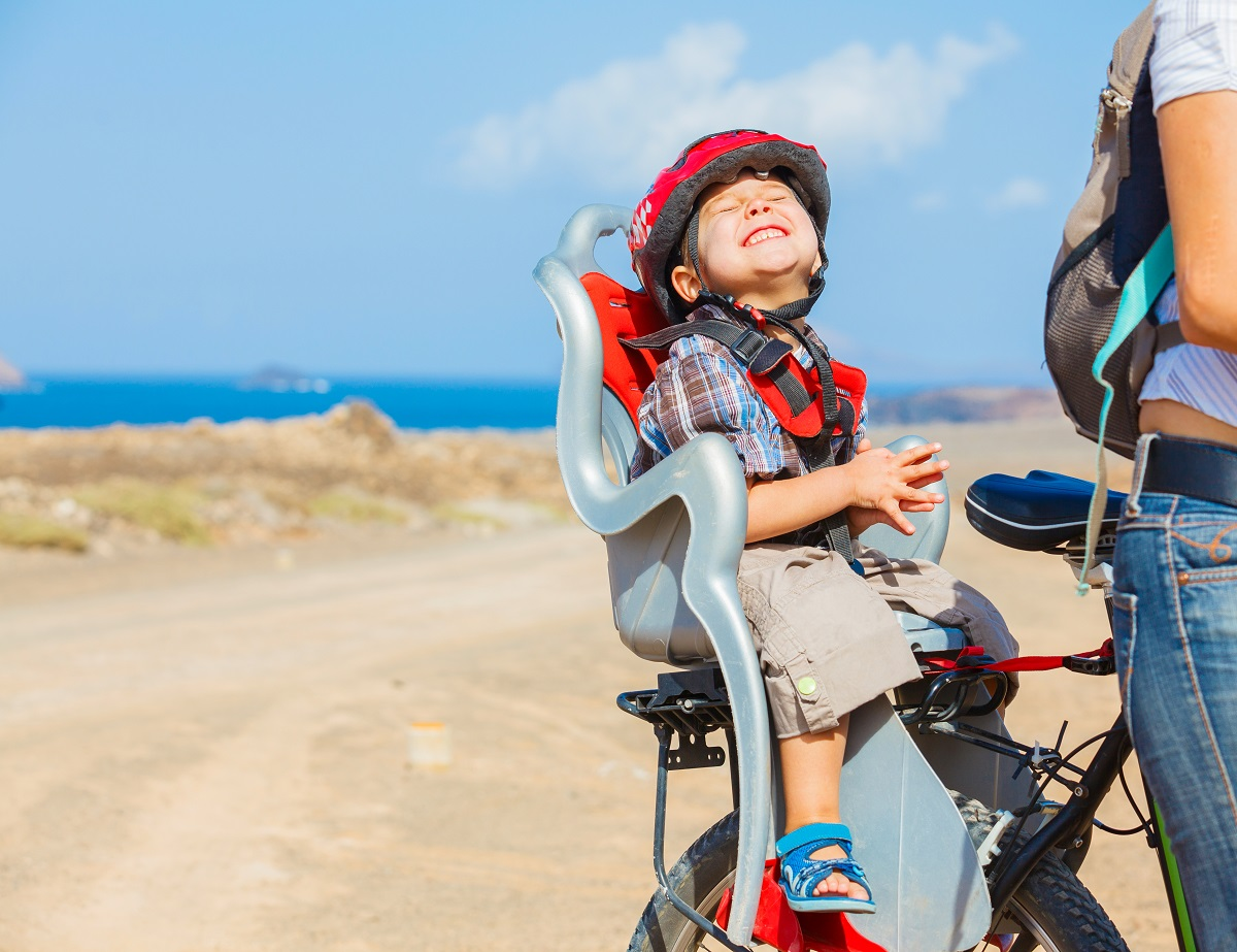 How to Get On A Bike with A Child Seat