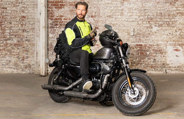 Biker jacket reflector