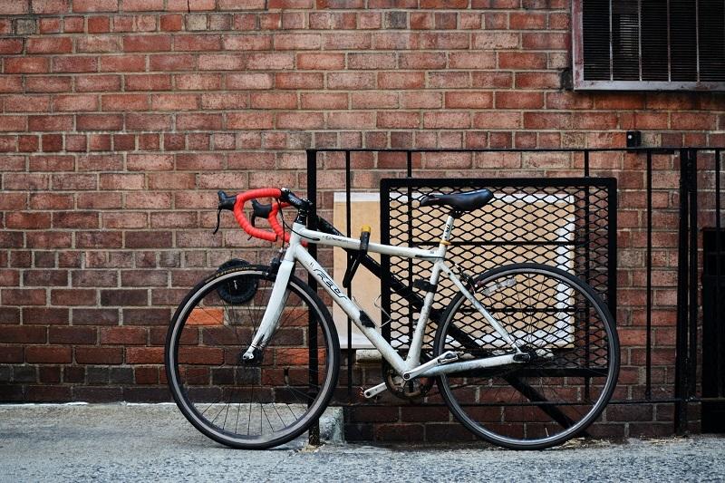 How to lock a bike without a bike rack
